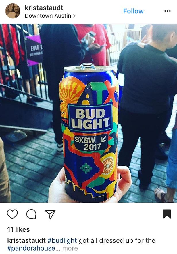 Instagram Advertising for Bud Light at SXSW