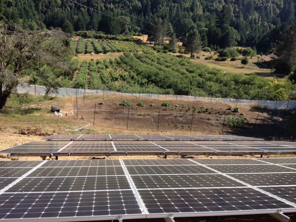 medium resolution of whitethorn ca a 20 kw ground mount grid tied system powering the home