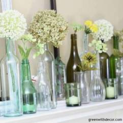 Christmas Decorating Ideas For The Kitchen Bay Window Over Sink An Easy Spring Mantel Idea With Wine Bottles ...