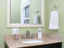How we updated our bathroom for just $100 - Green With Decor