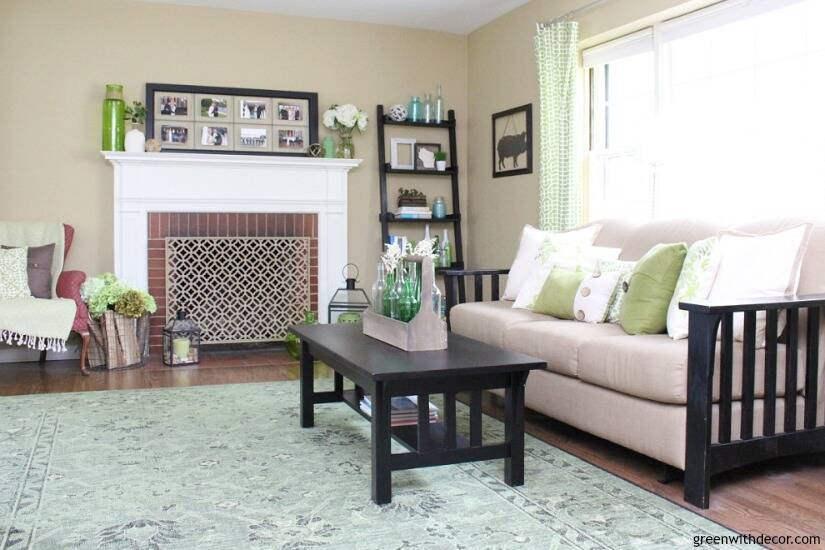 pretty living room paint colors decorating ideas beige couch camelback by sherwin williams green with decor a neutral tan color it looks great in