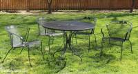 How to paint metal patio furniture - Green With Decor