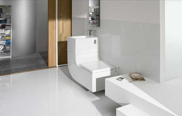 Washbasin + Watercloset4 by Eco Friendly, Space Saving Toilet & Washbasin Combo from Roca