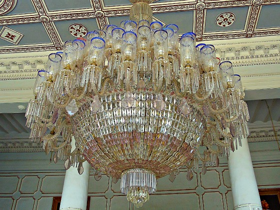 Belgian crystal chandelier Chowmahalla Palace