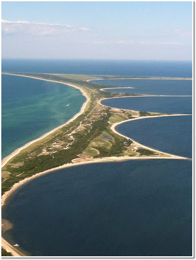 Ariel view of Nantucket Island