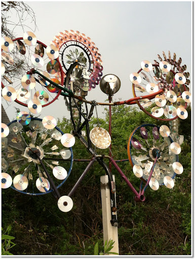 Artist Matt Oates whimsical whirlygigs