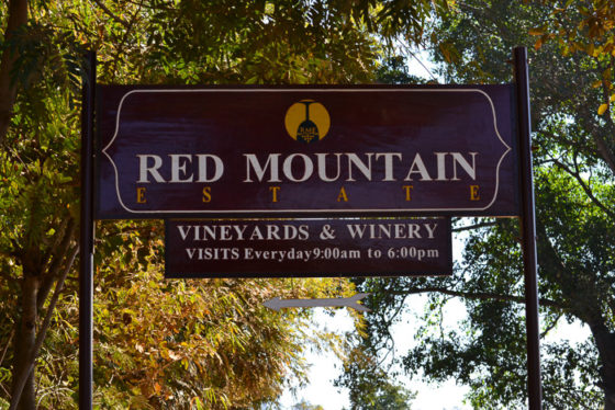 Entrance to Red Mountain Estate vineyards