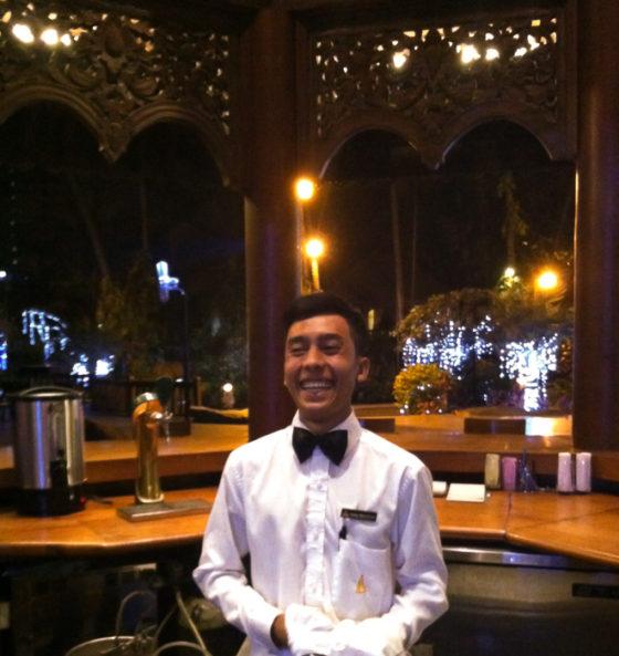 Outdoor cocktail bar in Yangon, Myanmar