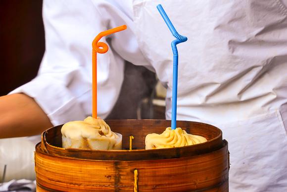 soup dumplings in Shanghai