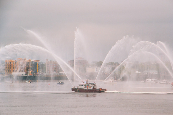 Fireship leading the Parade of Sails Boston