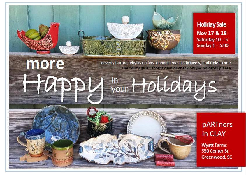 pARTners in Clay Pre-holiday Sale