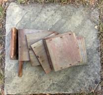 Former planter - now scrap wood.