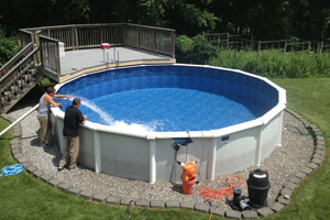 Image result for above ground pool pad