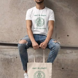 chico con bolsa orgánica Nasti de Plastic