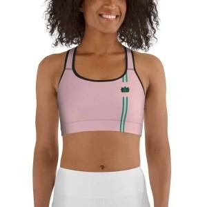 sujetador yoga deportivo con relleno rosa