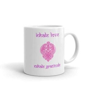 taza inhale love exhale gratitud