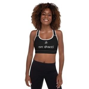sujetador deportivo negro om shanti