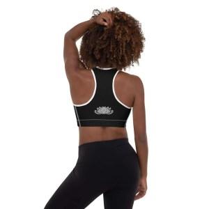 sujetador deportivo relleno negro om shanti espalda