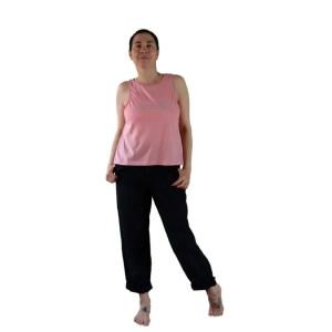 Camiseta algodón orgánico Fallen Angel rosa | plata