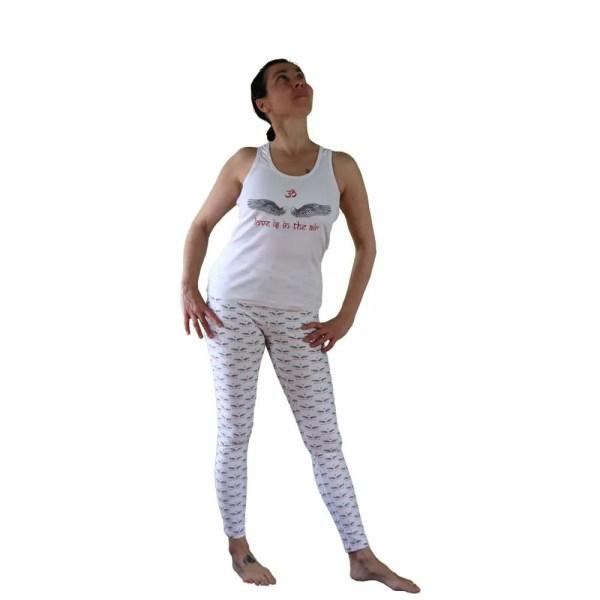 camiseta de tirantes nadadora love is in the air blanca