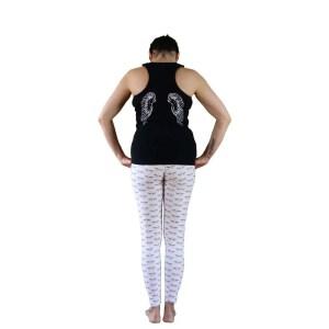 camiseta tirantes nadadora negra love is in the air alas espalda
