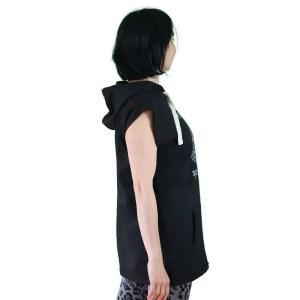 Sudadera con capucha extralarga sin mangas antes yoga que sencilla