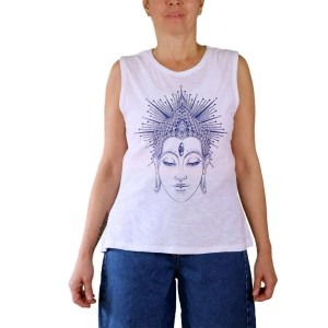 Camiseta orgánica Buda sin mangas
