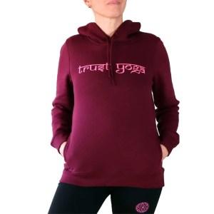 sudadera organica con capucha trust yoga