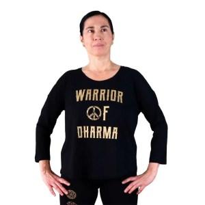 Camiseta orgánica Warrior of Dharma manga 3/4