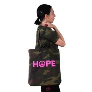 Bolso reciclado hope de camuflaje