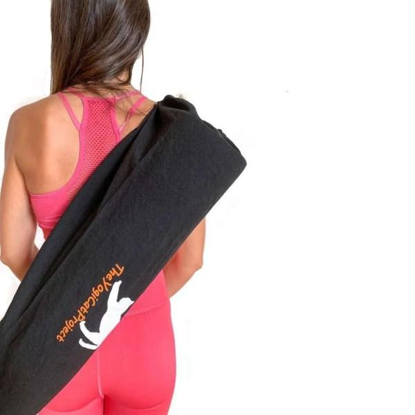 bolsa orgánica para esterilla de yoga negra