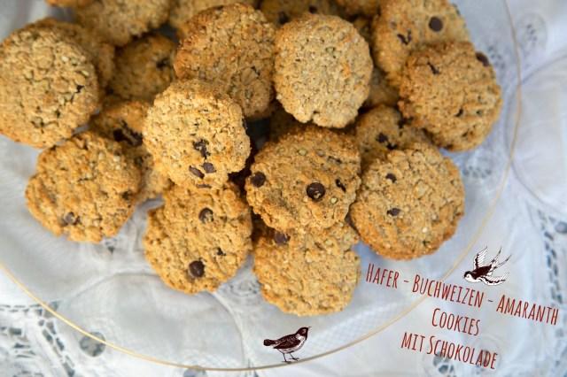 Foto: www.greenysherry.com vegan Hafer-Buchweizen-Amaranth Cookies mit Schokolade  gesund high carb abnehmen