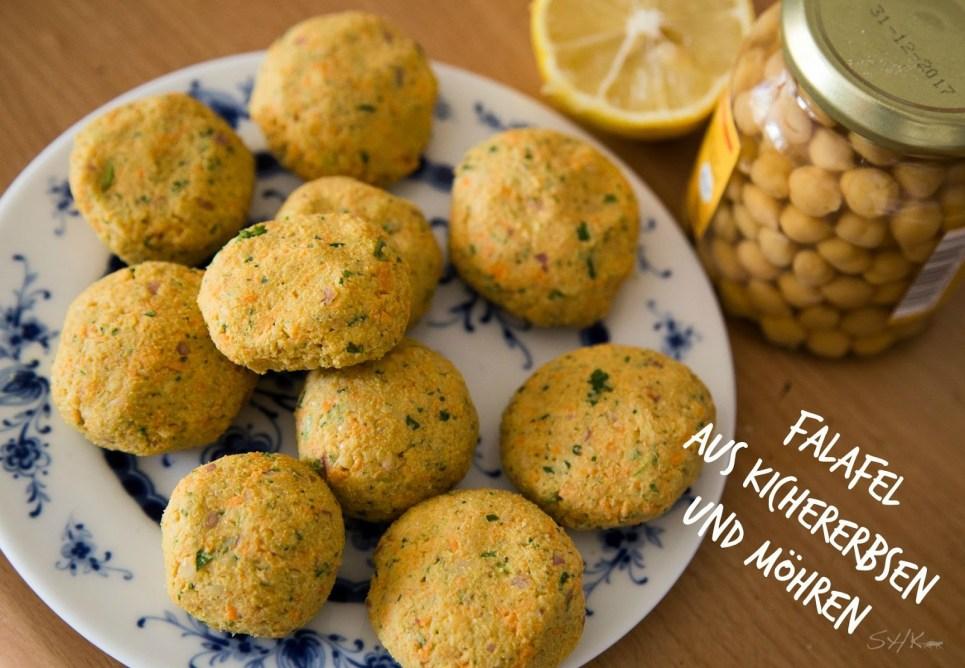 Vegane Falafel aus Kichererbsen und Möhren mit Zitrone hclf von Sharonesse