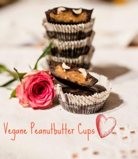 vegane Peanutbutter Cups mit Erdnüssen von sharonesse
