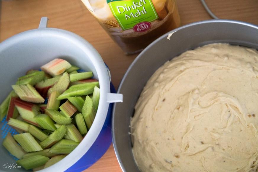 veganer Rhabarber Himbeer Marzipan Kuchen wie bei Großmutter von sharonesse