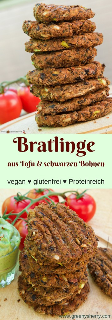 burger bratlinge aus schwarzen bohnen und tofu vegan glutenfrei greeny sherry vegane. Black Bedroom Furniture Sets. Home Design Ideas