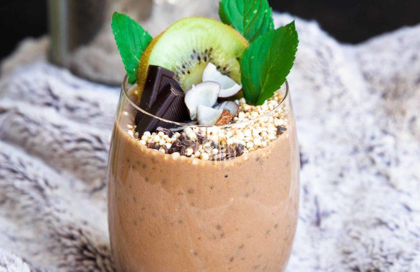 Schnelle Protein Schokoladen-Kaffee Crème (vegan & glutenfrei)