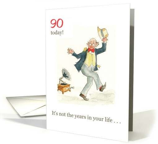 Lighthearted Birthday Card For A 90 Yr Old Card 574395