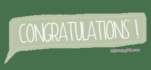 Bubble Congratulations