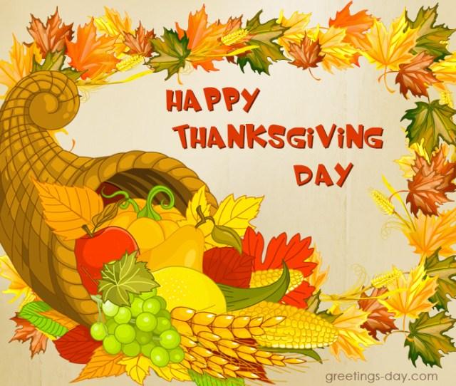 Thanksgiving Day Greeting Image Card