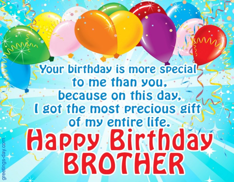 Happy Birthday Brother Free Ecards Wishes In Pictures
