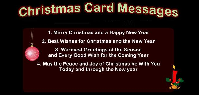 Christmas Greeting Card Messages Greetings For Christmas