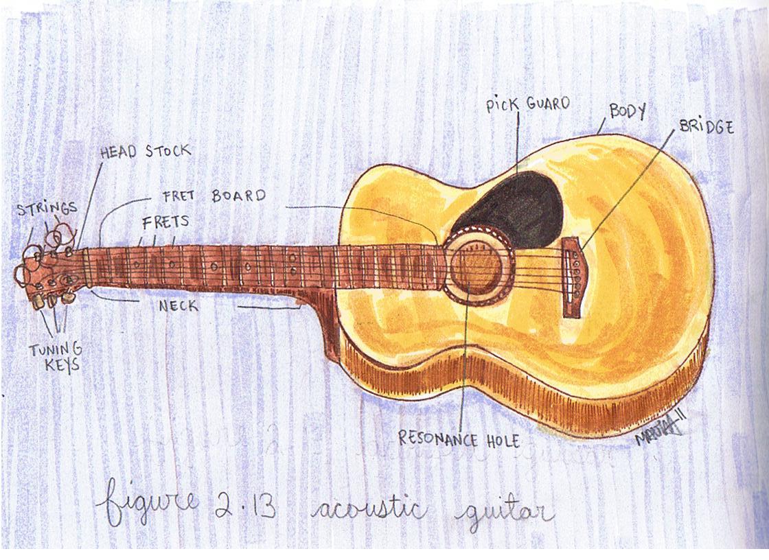 acoustic guitar diagram [ 1120 x 816 Pixel ]