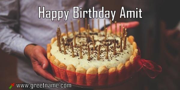 happy birthday amit cake