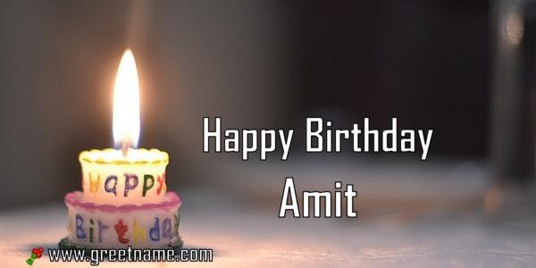 happy birthday amit candle