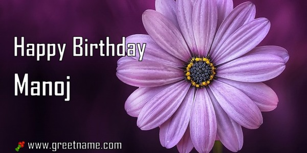 happy birthday manoj flower