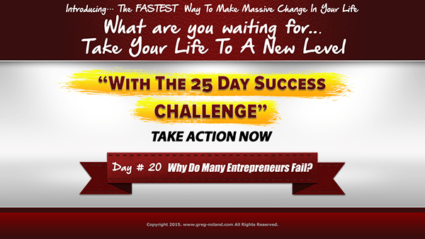 Day 20: Why Do Many Entrepreneurs Fail?