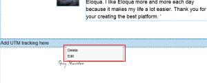 Edit or Delete Eloqua Landing Page Section