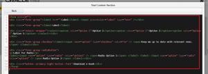Eloqua Landing Page form code