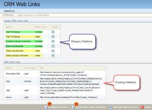 Eloqua Salesforce Integration Eloqua Web Links